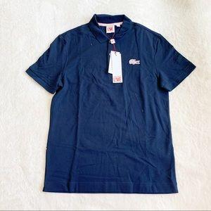NWT Lacoste Live Polo Shirt W/ Pink Logo